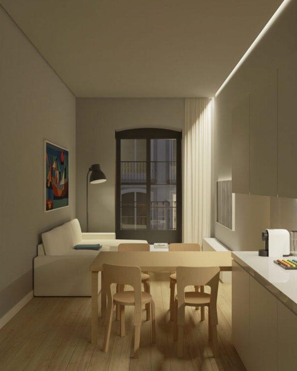 Interior P2B apartamento
